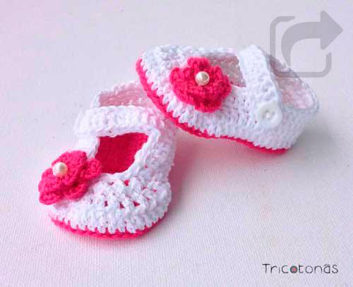 8759f5493 Bailarinas bebé crochet