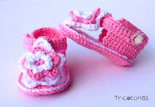 Aquí puedes comprar sandalias de crochet para niños a medida •